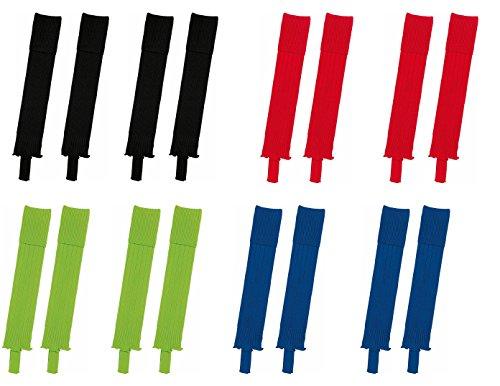 Die Sportskanone Stutzen Set Bristol 2 Paar Stutzen Stegstutzen für Kinder & Herren versch. Farben (Schwarz, Junior (1.20-1.60m))