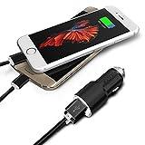 I-Sonite (Black Chargeur de Voiture, 2 x 1m câble Micro USB pour Bluboo S8+