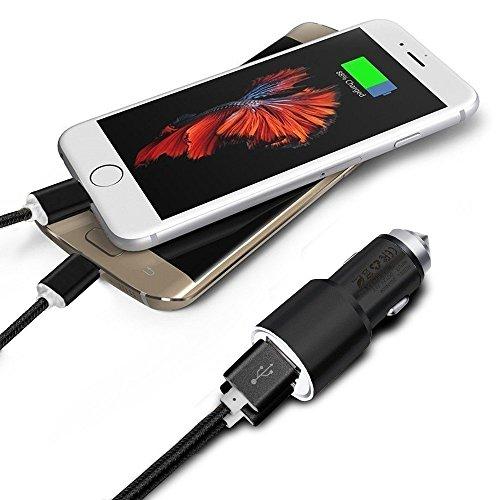 uto-Ladegerät und 2X 1M Micro-USB-Kabel für Motorola Droid Maxx 2 ()