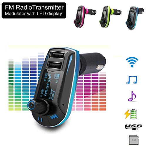 realmax® Auto Musik FM Transmitter universell kompatibel mit Allen Marke Mobiles MP3-Player Tablets und alle KFZ Modelle - Mhz System Memory