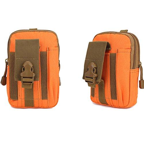 EULAGPRE 1x Männer Military Tactical Wasserdichte Taille Sporttaschen Geldbörse Mini Outdoor Taschen Orange