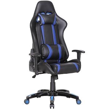 delman racing b rostuhl gaming chair schreibtischstuhl drehstuhl sportsitz ergonomischer pu. Black Bedroom Furniture Sets. Home Design Ideas