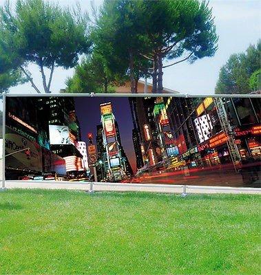 Stickersnews - Brise vue déco personnalisé jardins, terrasses et balcons New York réf 3605 Occultation - 100%, Dimensions - 180x70cm