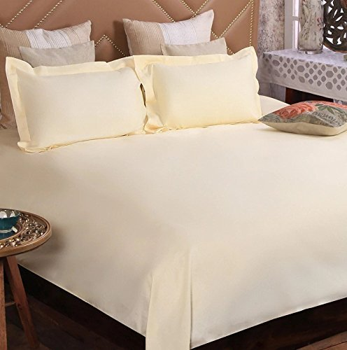 Ivaan 100% Cotton Premium Double Bedsheet with 2 Pillow Covers- White (Light...