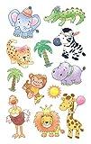 AVERY Zweckform 53226 Papier Sticker, Safaribabies, 12 Aufkleber