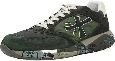 PREMIATA Scarpe Uomo Sneakers ZACZAC 3546 Camoscio Pelle Tech Multicolor Grigio