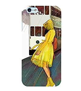 Fabcase girl with yellow boots raining tall and beautiful frok travelling Designer Back Case Cover for Apple iPhone 6s Plus :: Apple iPhone 6s+