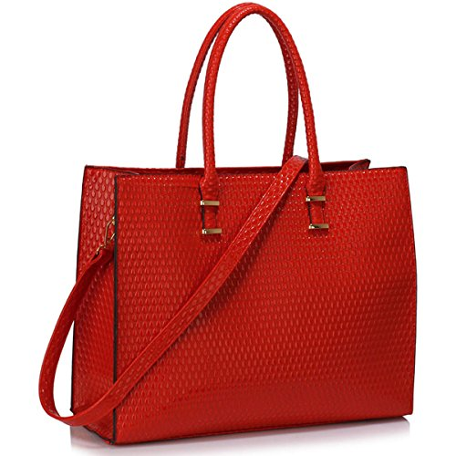 Xardi London, Borsa tote donna large Red Embossed