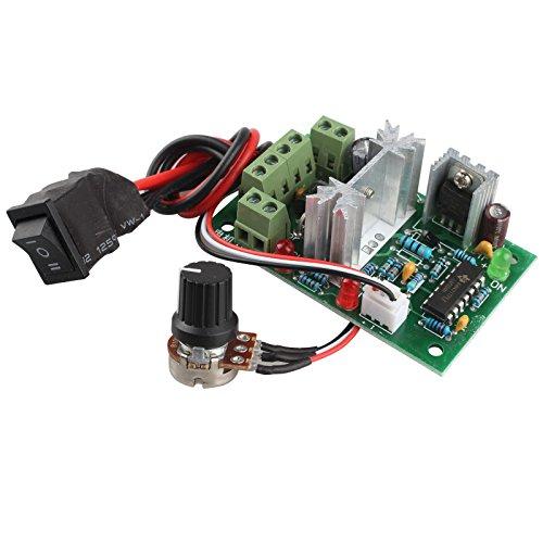 HALJIA CCM2 Adjustable Volt DC Motor Speed Controller 10V 12V 24V 30V 120W PWM Forward / Reverse Reversing Switch (Speed Control Motor)