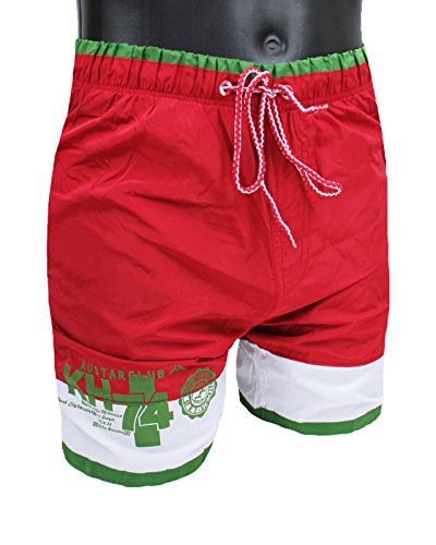 maillot-de-bain-homme-boardshort-austar-yachting-vert-blanc-rouge-slim-fit-short-boxer-rouge-small