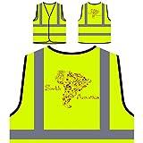 Sudamerica Chaqueta de seguridad amarillo personalizado de alta visibilidad v646v