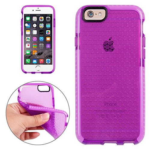 Wkae Case Cover Für iPhone 6 &6s Honeycomb Textur TPU-Schutzhülle ( Color : White ) Purple
