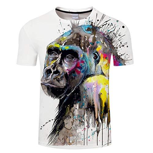 ZCYTIM ICH sehen die Zukunft durch Pixie kalte Kunst T Shirts 3D Männer T-Shirts AFFE Gedruckt Tier Tops Marke T-Shirts Mode 3D Camiseta ZOOTOP