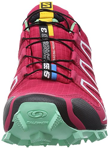 Salomon Speedcross 3, Trail femme Rouge - Rot (Lotus Pink/Lucite Green/Black)