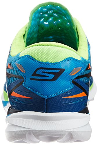 Skechers  Go Meb Speed 3,  Herren Laufschuhe Blue (Blue/Lime)