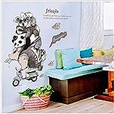 YCWYF-Wall wall stickers murali camera dei bambini cartoon animali amici in sella a tram animazione adesivi arredamento della camera armadio porta adesivi in vetro