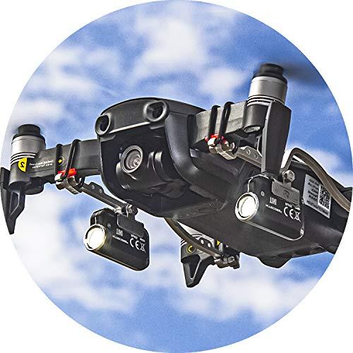 Roboterwerk M.O.N.A. Mavic Air Dual: doppelte LED-Scheinwerfer für DJI Mavic Air, Zubehör, bis zu 760 Lumen Licht für Foto und Video
