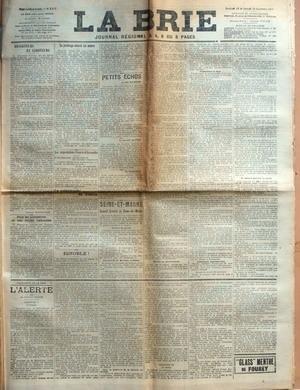 BRIE (LA) [No 2915] du 29/09/1911 - DESERTEURS ET ...