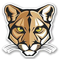 2 x Cat Lioness Lion Tiger Vinyl Sticker Decal Laptop Travel Luggage Car iPad Sign Fun #5430