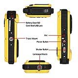 Wasserdichte Kamera Stoga CGT002 2,7 Zoll LCD Digitalkamera 16MP Video Camcorder wasserdicht Kamera Zoom Video Recorder + 8 X Zoom Cam-gelb - 4