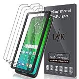 LK Verre Trempé pour Motorola Moto G7 / Moto G7 Plus [Lot de 3], Anti Rayures Film Protection écran [Haute Définition - sans Bulles][Facile à Kit d'installation] Film de Protection d'écran