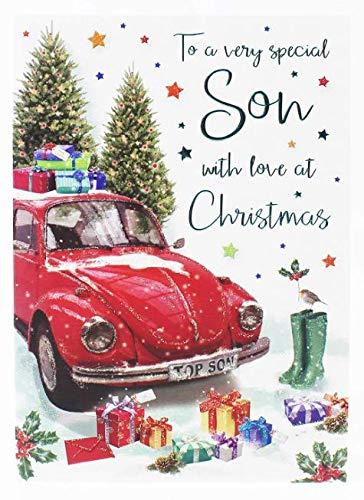 Auguri Di Natale Ad Un Figlio.Elegante Biglietto Natalizio Per Fare Gli Auguri A Un Figlio