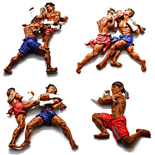LED-Mafia Magnet Thai Boxing - Thailand Kühlschrank Boxen Fight Club Kickboxer Kick Muay Thai (Roundhouse Kick)