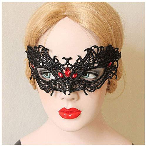 gel Handgemachte Sexy Openwork Spitze Maske Party Ball Millionen Weihnachten Halbe Gesichtsmaske Weiblich ()