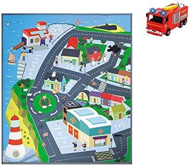 Dickie Jouet de 203096003 – Pompier Sam Playmat, Kit de Jeu | Offre Spéciale