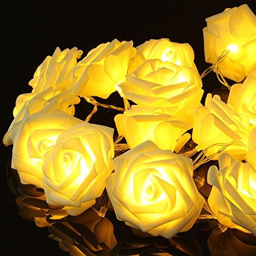 Bluelover 20 Led Romantico Rose Flower Fairy String Luce Per