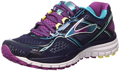 Brooks Ghost 8 W, Scarpe da Corsa Donna, Multicolore (Peacoat/Hollyhock/Capri Breeze), 36 1/2 EU