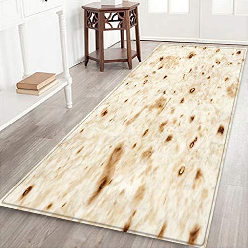 jieGREAT  Räumungsverkauf ,Comfort Food Creations Burrito Wrap Blanket Square Bathroom Teppich...