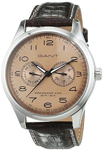 GANT Time Herren-Armbanduhr Montauk Day-Date Analog Quarz Leder W71602