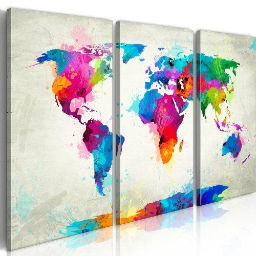murando - Cuadro 120x80 - impresión de 3 piezas en material tejido no tejido impresión artística fotografía imagen gráfica - decoración de pared mapa del mundi 020113-265