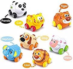 Goappugo My First Animals On Wheels (Set Of 8 Pieces) Baby Birthday Gift For 1 To 3 Year Old Child