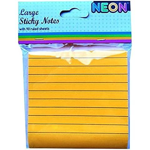 Foglietti adesivi grandi Notepad, colore: arancione Neon,