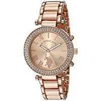 U.S. Polo Assn. USC40170 Women Quartz Rose Gold-Toned Dress Watch