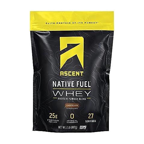 Ascent Protein Poudre De Protéines De Lactosérum Natif Carburant 2lbs / 908g 2 lb (908g) Chocolate