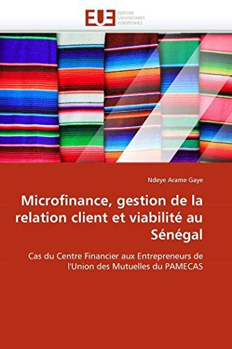 Microfinance, gestion de la relation client et viabilité au sénégal