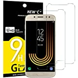 NEW'C Verre Trempé pour Samsung Galaxy J5 2017,[Pack de 2] Film Protection écran - Anti Rayures - sans Bulles d'air -Ultra Résistant (0,33mm HD Ultra Transparent) Dureté 9H Glass