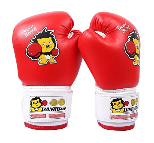 Child Boxen - Kickboxhandschuh volle Finger-Handschuhe -MMA-2 ---- Red