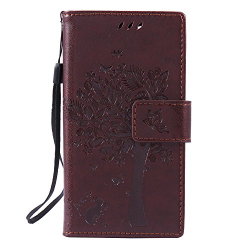 sony-xperia-z3-mini-compact-case-leather-brown-cozy-hut-wallet-case-premium-soft-pu-leather-notebook
