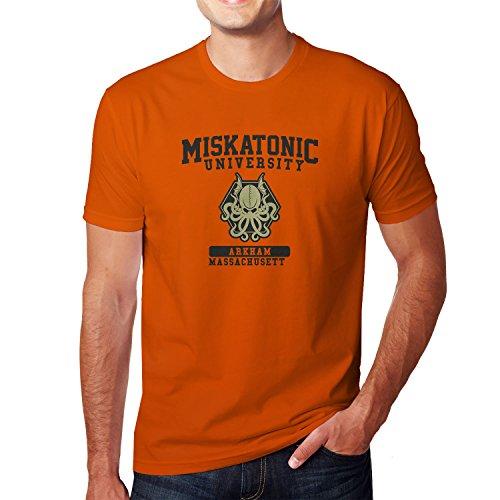 Planet Nerd Miskatonic University - Herren T-Shirt Orange