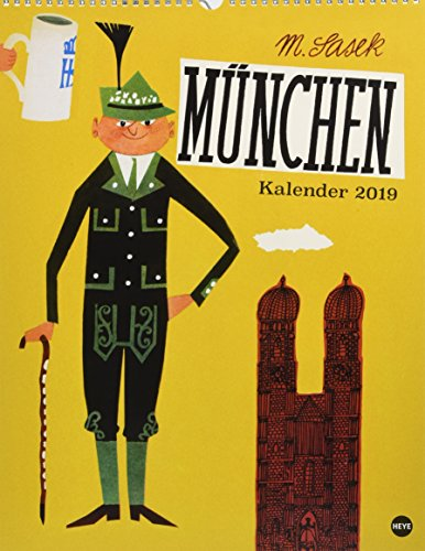 Sasek: München Posterkalender - Kalender 2019