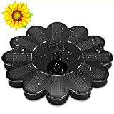 Solar Springbrunnen Mit Vogel Bad Brunnen 1.4W Monokristalline Solar Panel Sonnenblume Design