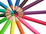 Set of 12 Fun and Bright Color Pencils -...
