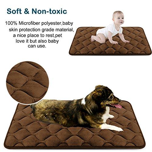 Weiche Hundebett Große Hunde Luxuriöse Hundedecken Waschbar Strapazierfähige Hundekissen Rutschfeste Hundematte Braun XL HeroDog - 3
