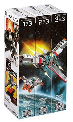 Mattel Mega Bloks Halo Bundle - Build & Combine Set bestehend aus UNSC C&C Console (97131), UNSC Hanger Deck (97133) & Forerunner Terminal (97170)