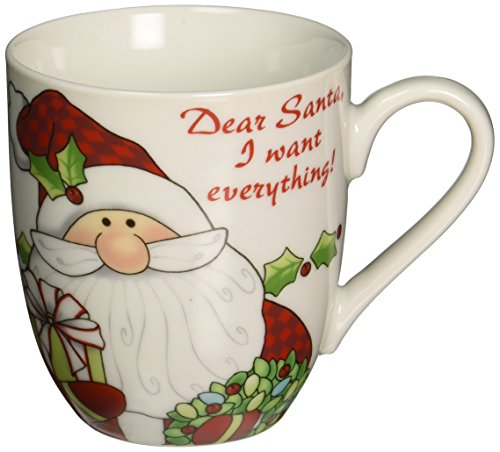 Fitz und Floyd Santa 's Big Day Urlaub Becher, Dear Santa, I want Alles -