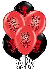 Idea Regalo - ocballoons Palloncini Rosso Nero Forza Milan Compleanno conf.20pz